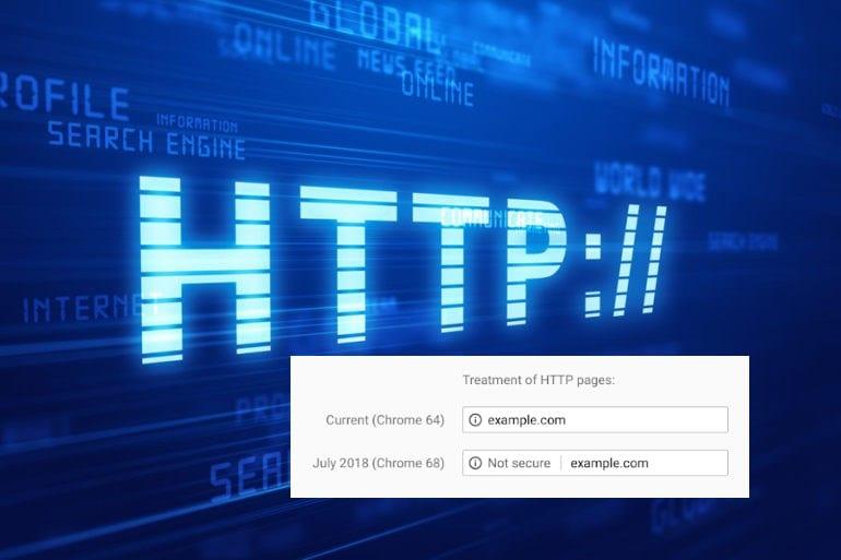 Chrome gaat websites zonder SSL als 'niet veilig' markeren